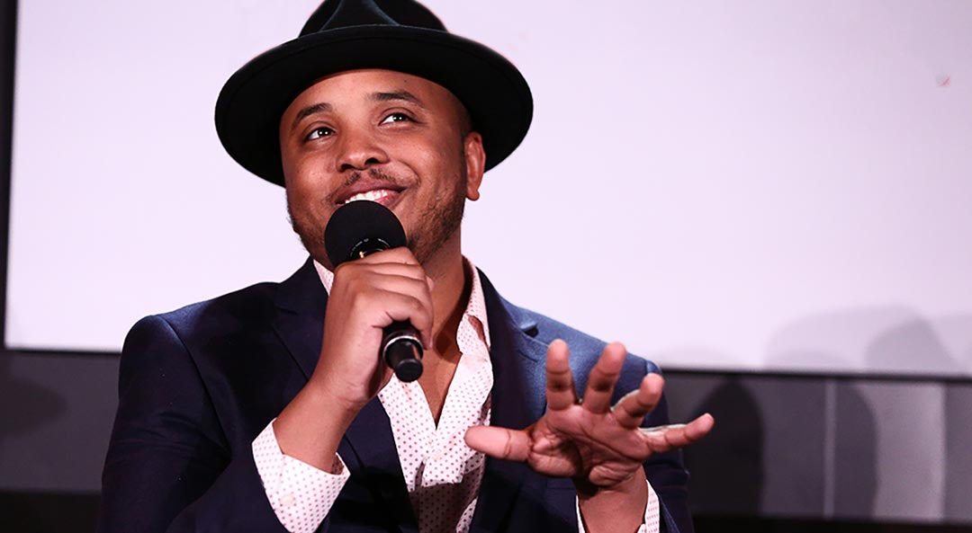 Writerproducer Justin Simien cat