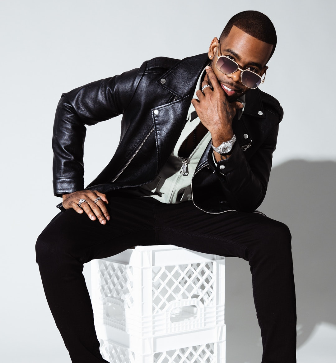 Mario singer studio shot sunglasses mobile