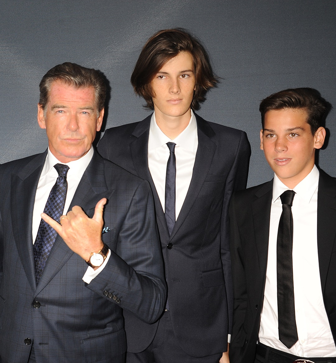 Pierce Brosnan family mobile