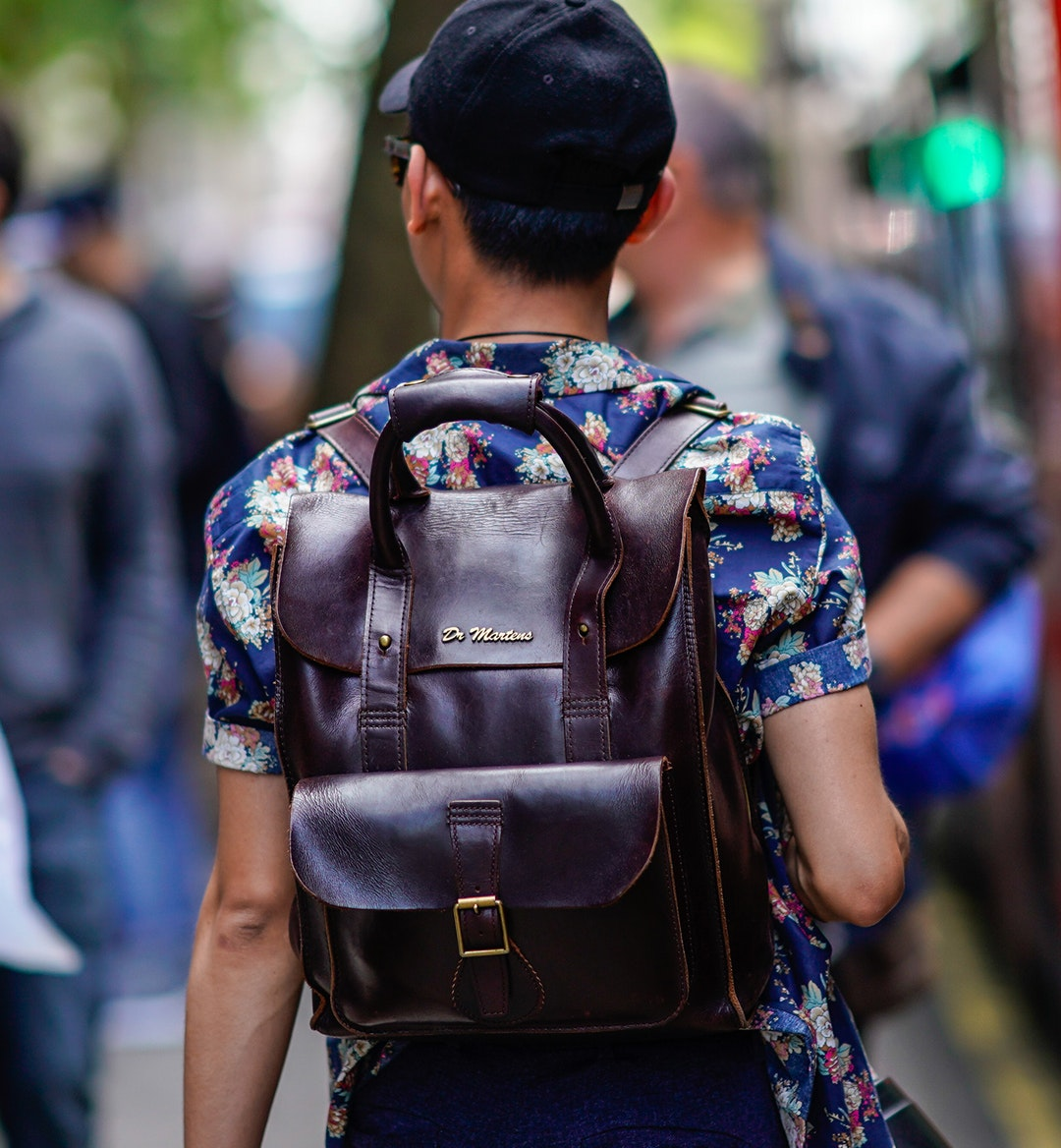leather backpack mobile