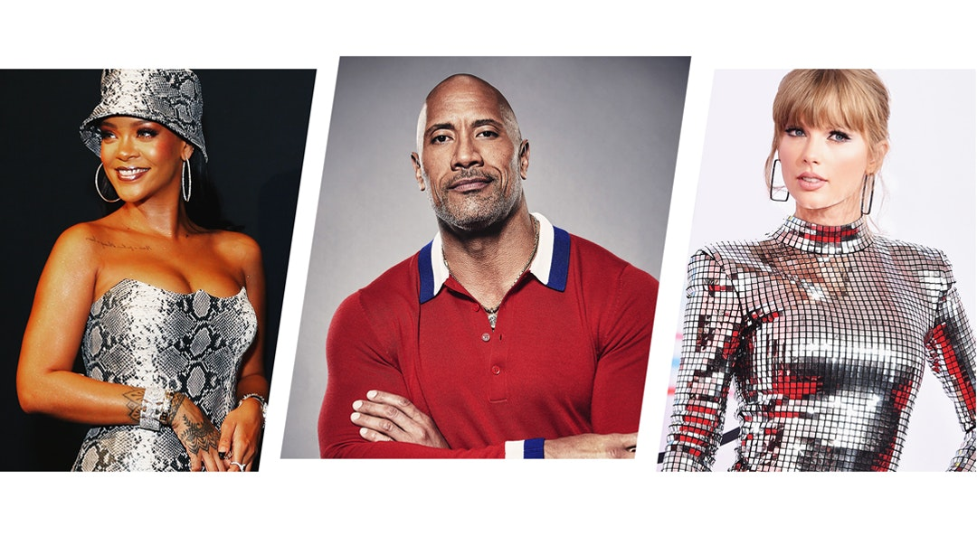 Rihanna TheRock Taylor Swift 2018 cat