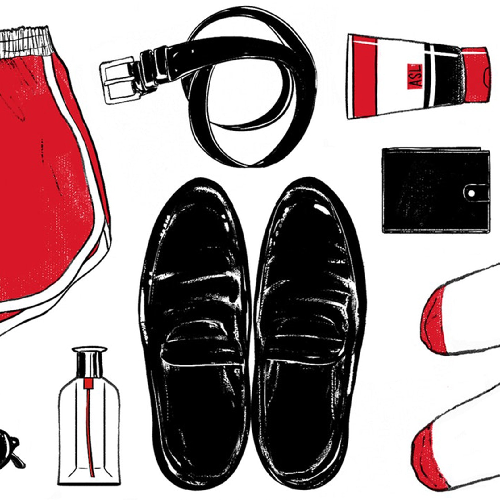 mens budget products illustration