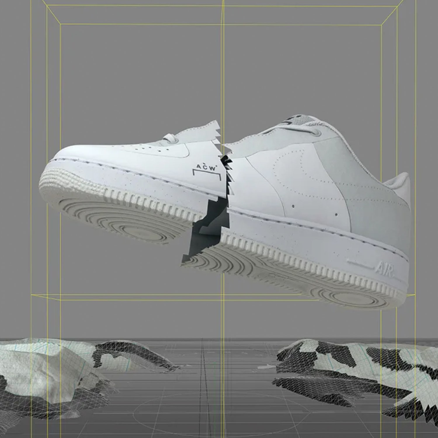 NikeACW AirForce1Low White D