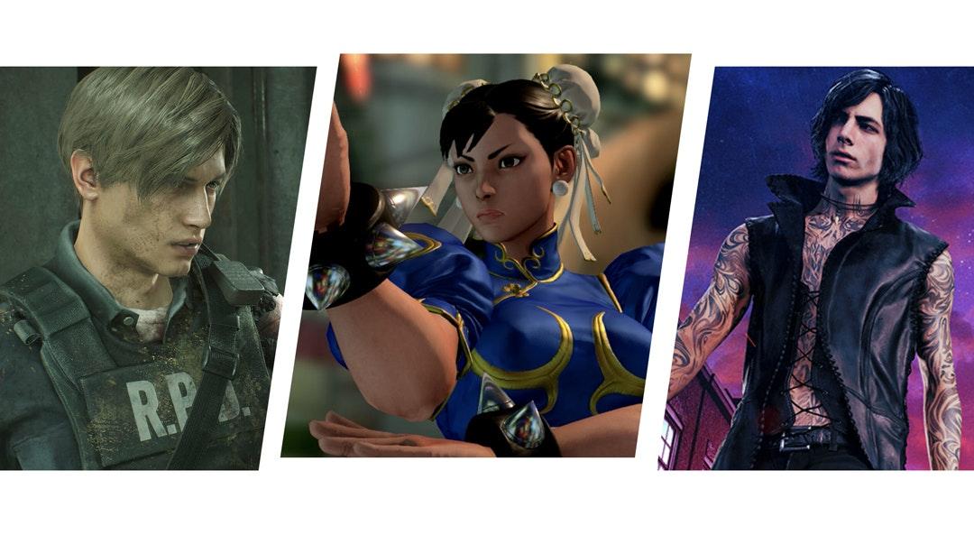 Resident Evil 2 Street Fighter V Devil May Cry 5 cat