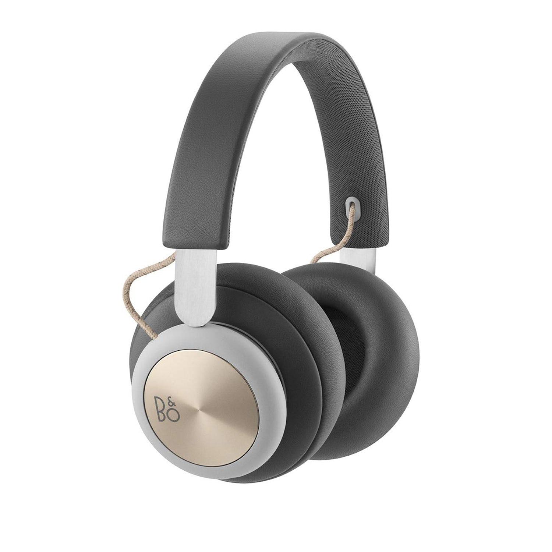 bang and olufsen grey overear headphones