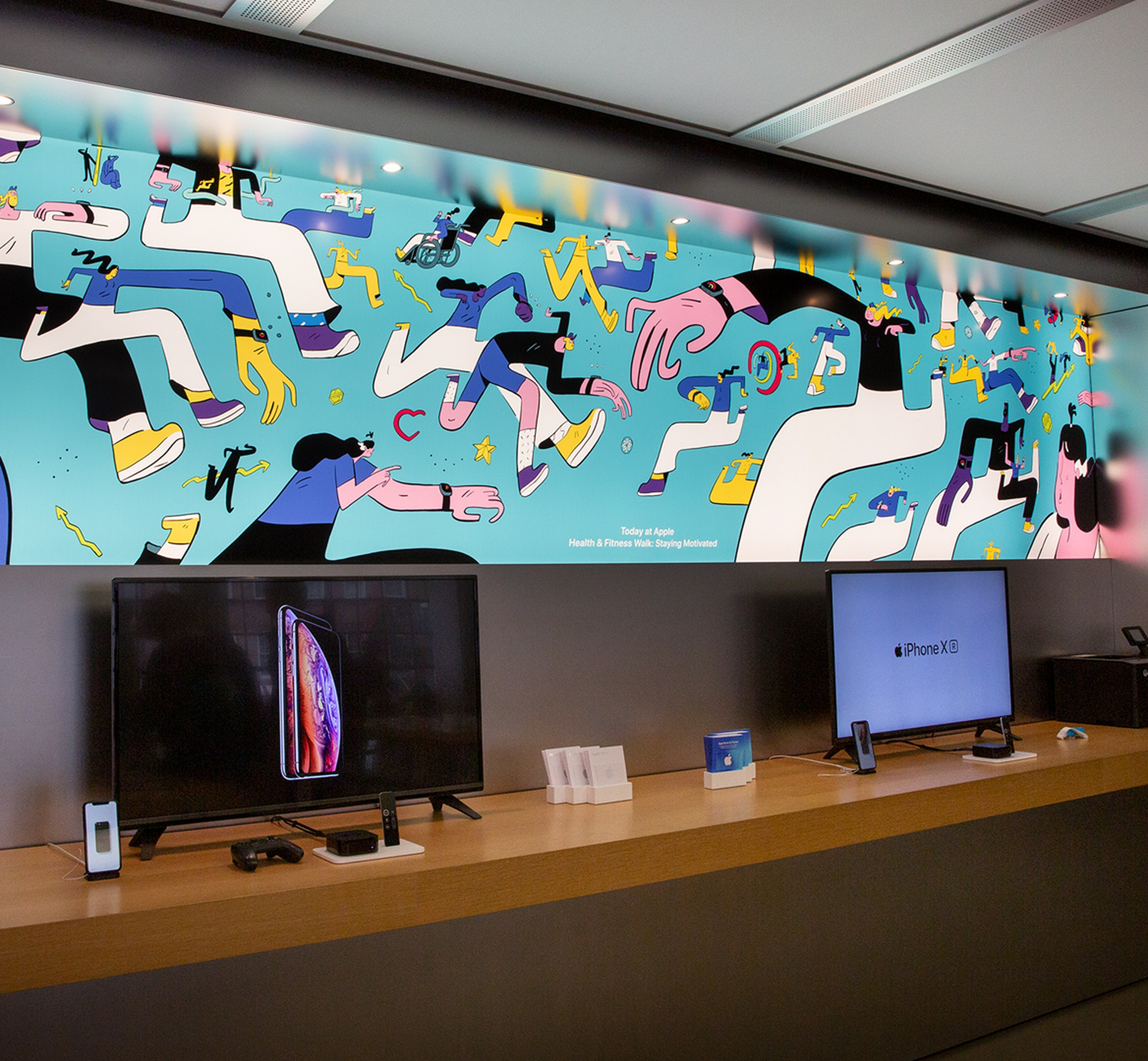 Apple store illustrations mobile