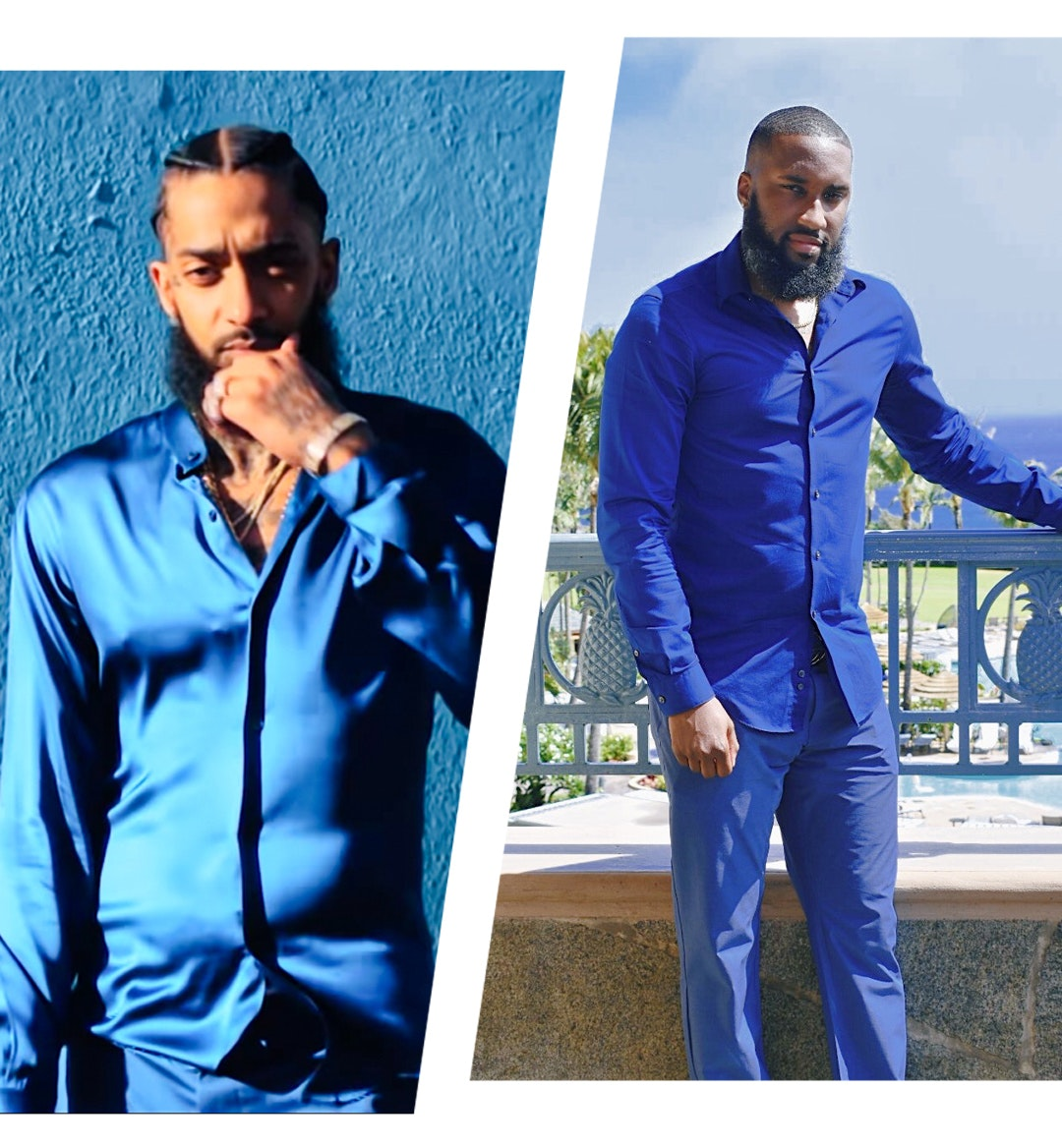 Nipsey Hussle's Blue Suit Inspired My Summer Vacation Look