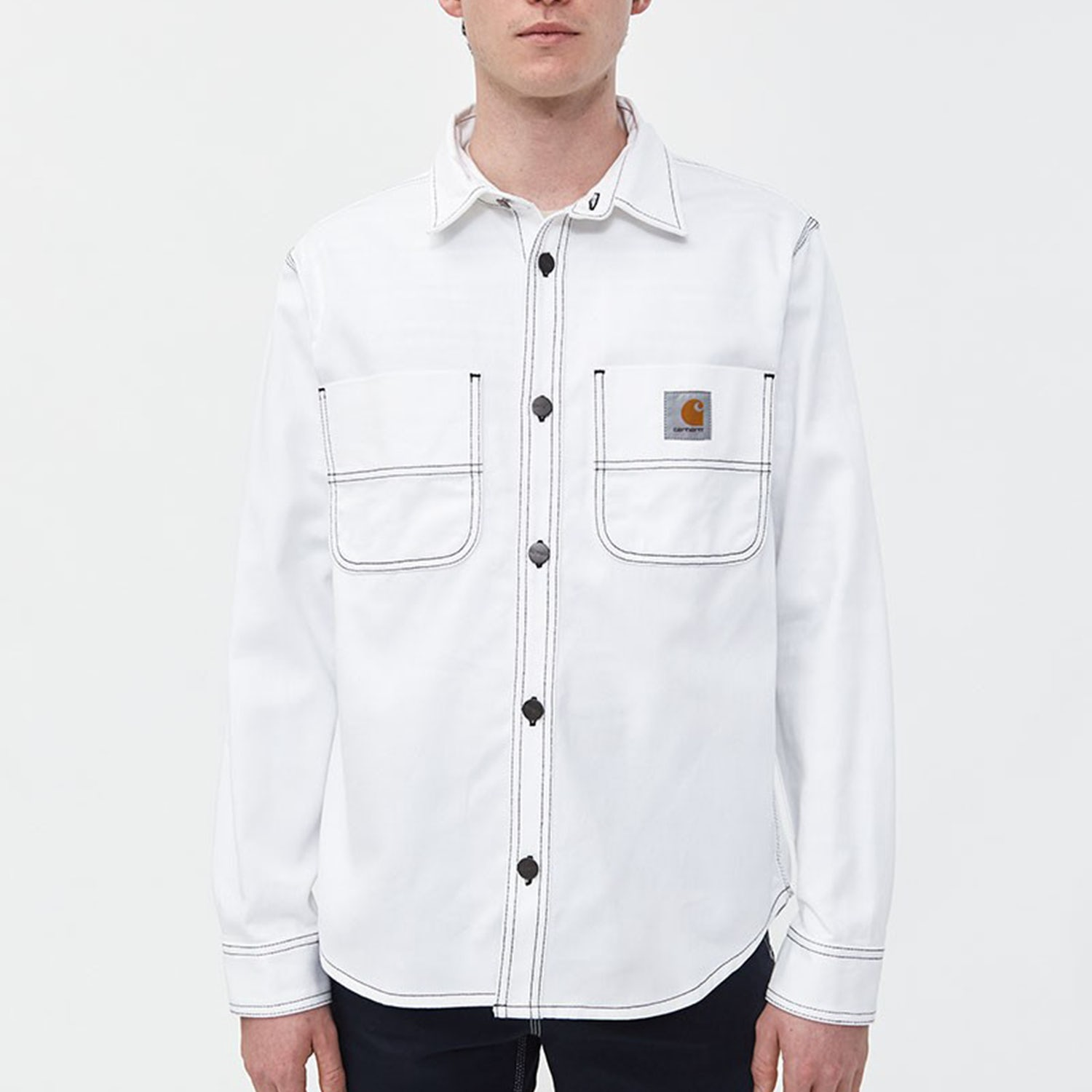 carhartt white button up