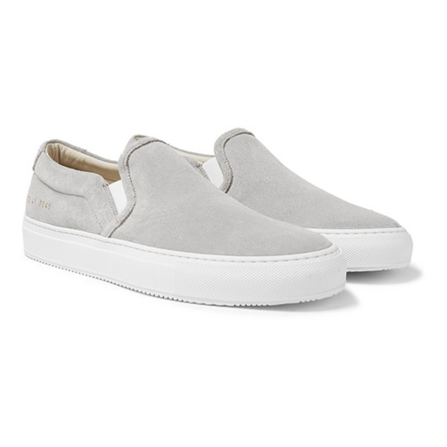 common projects slip ons gray
