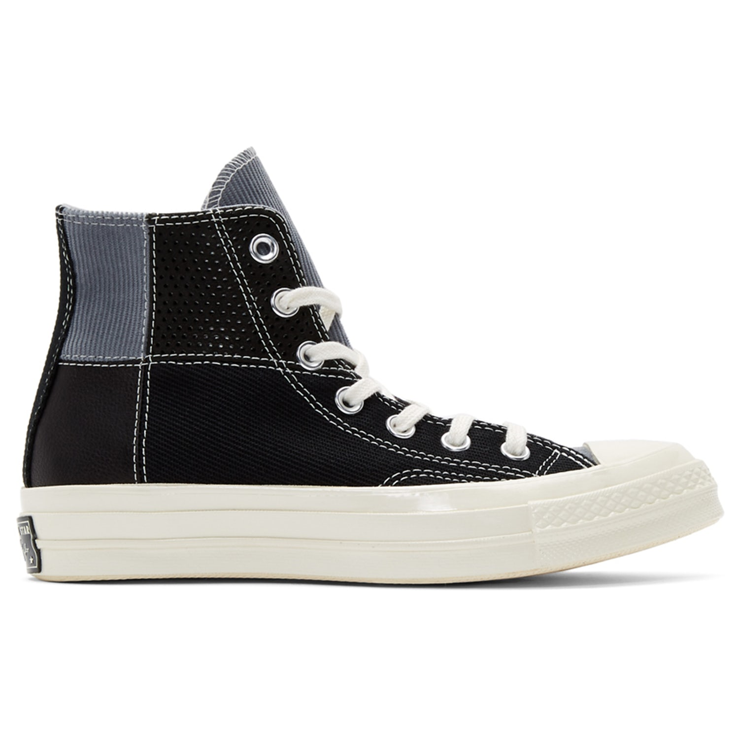 converse black patchwork