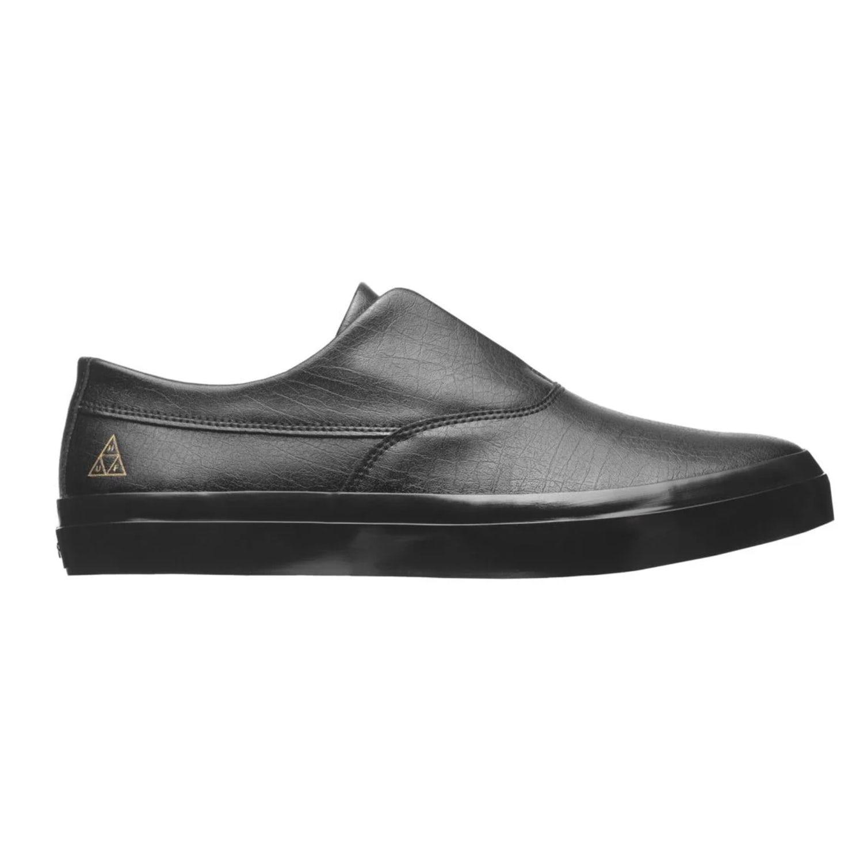 hef black leather slip on