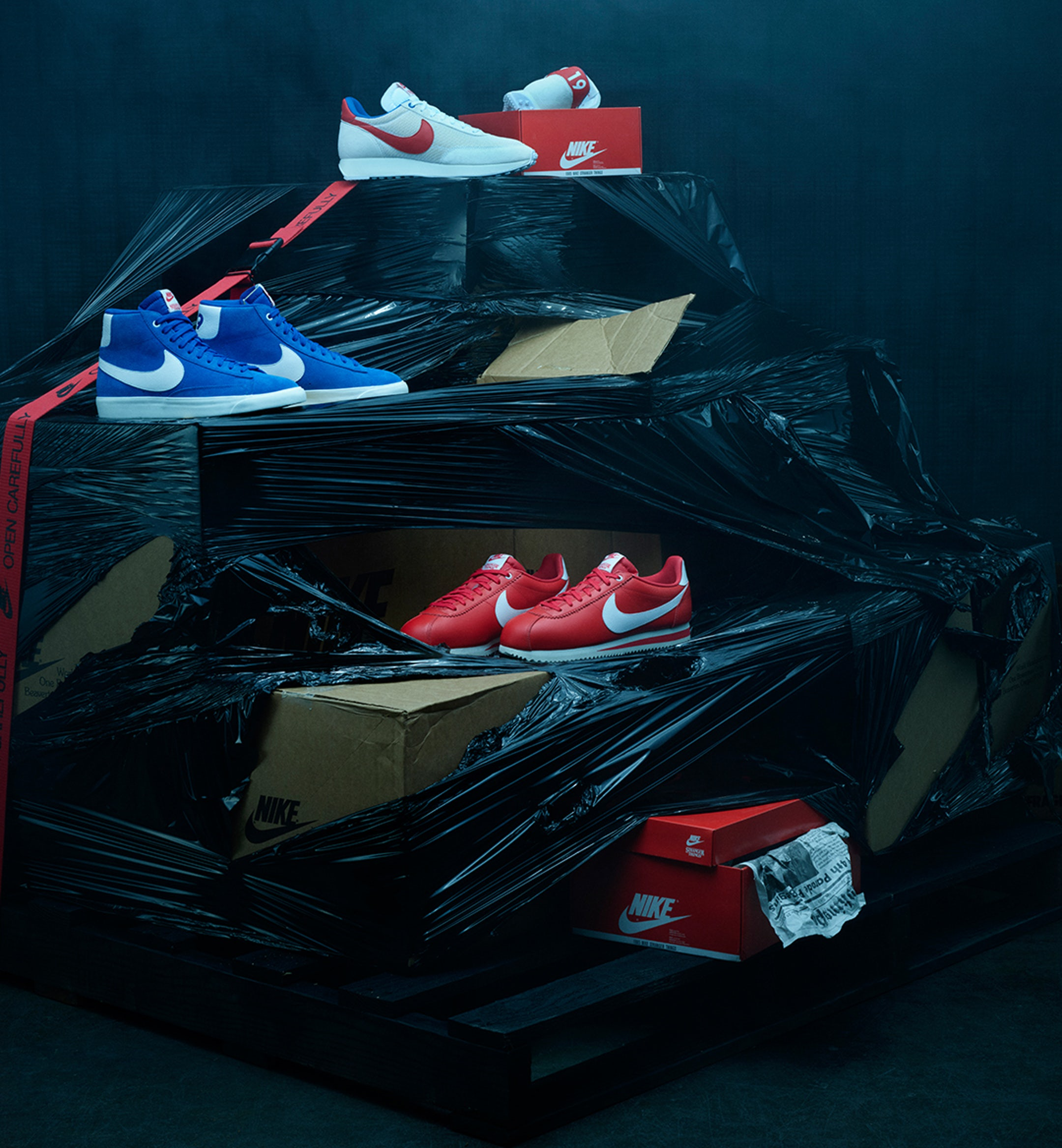 nike stranger things sneakers mobile