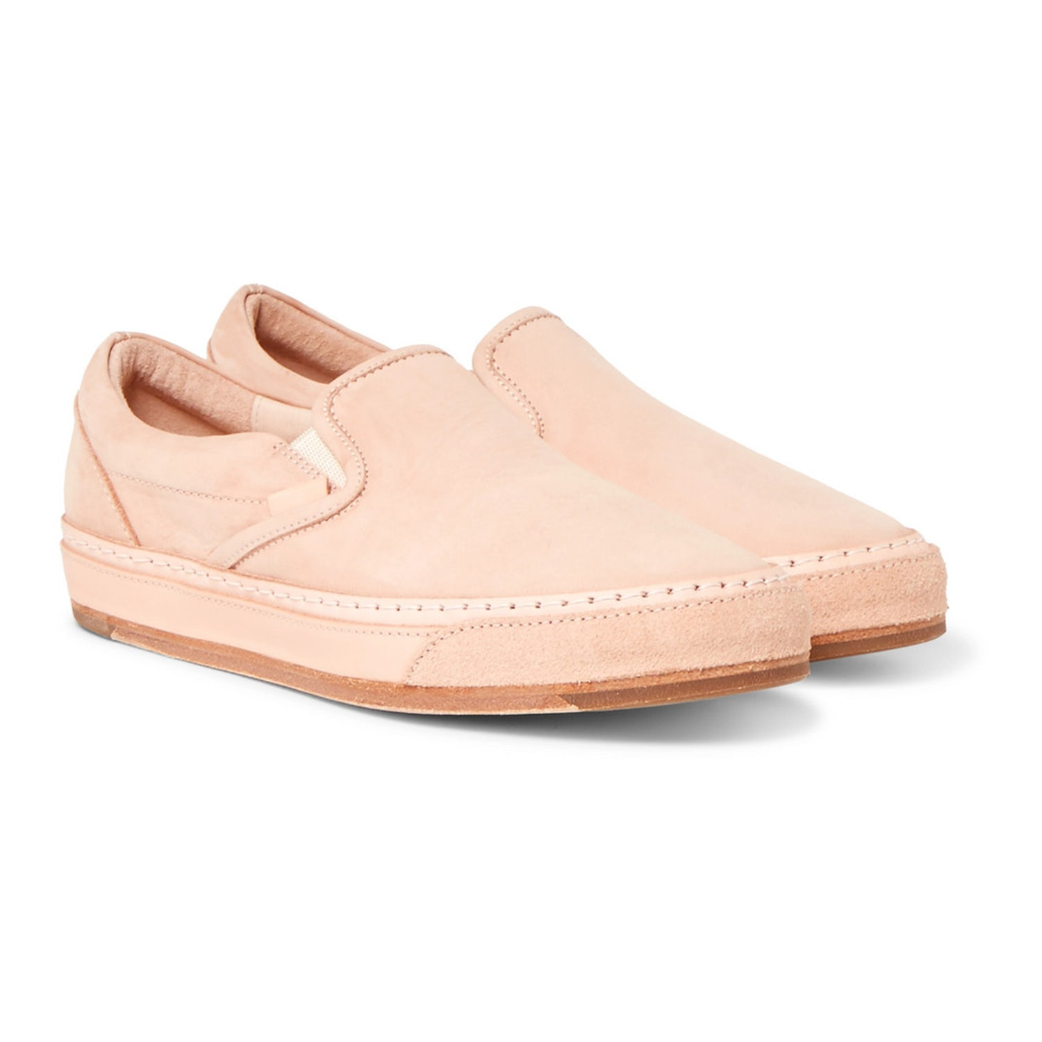 peach loafers slip ons