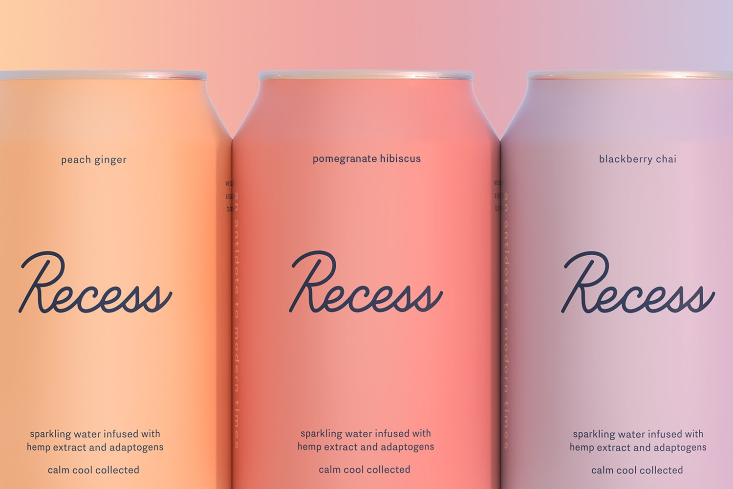 recess sparkling water cbd cans