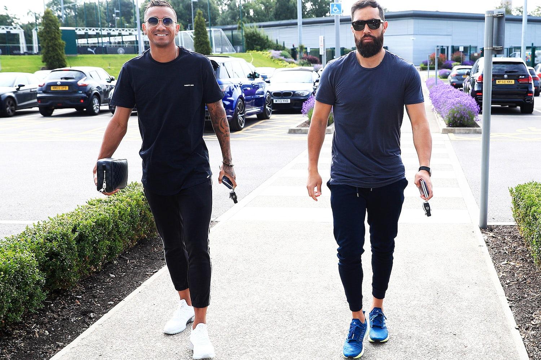 Danilo and Claudio Bravo of Manchester City