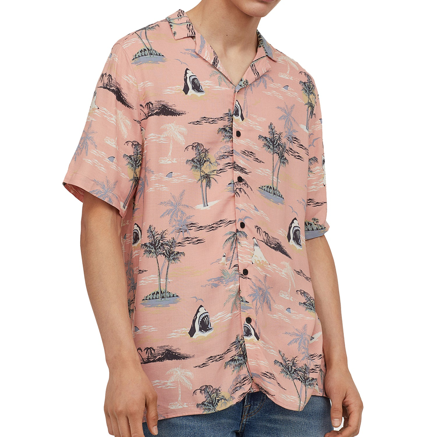 hawaiian shirt pink hm