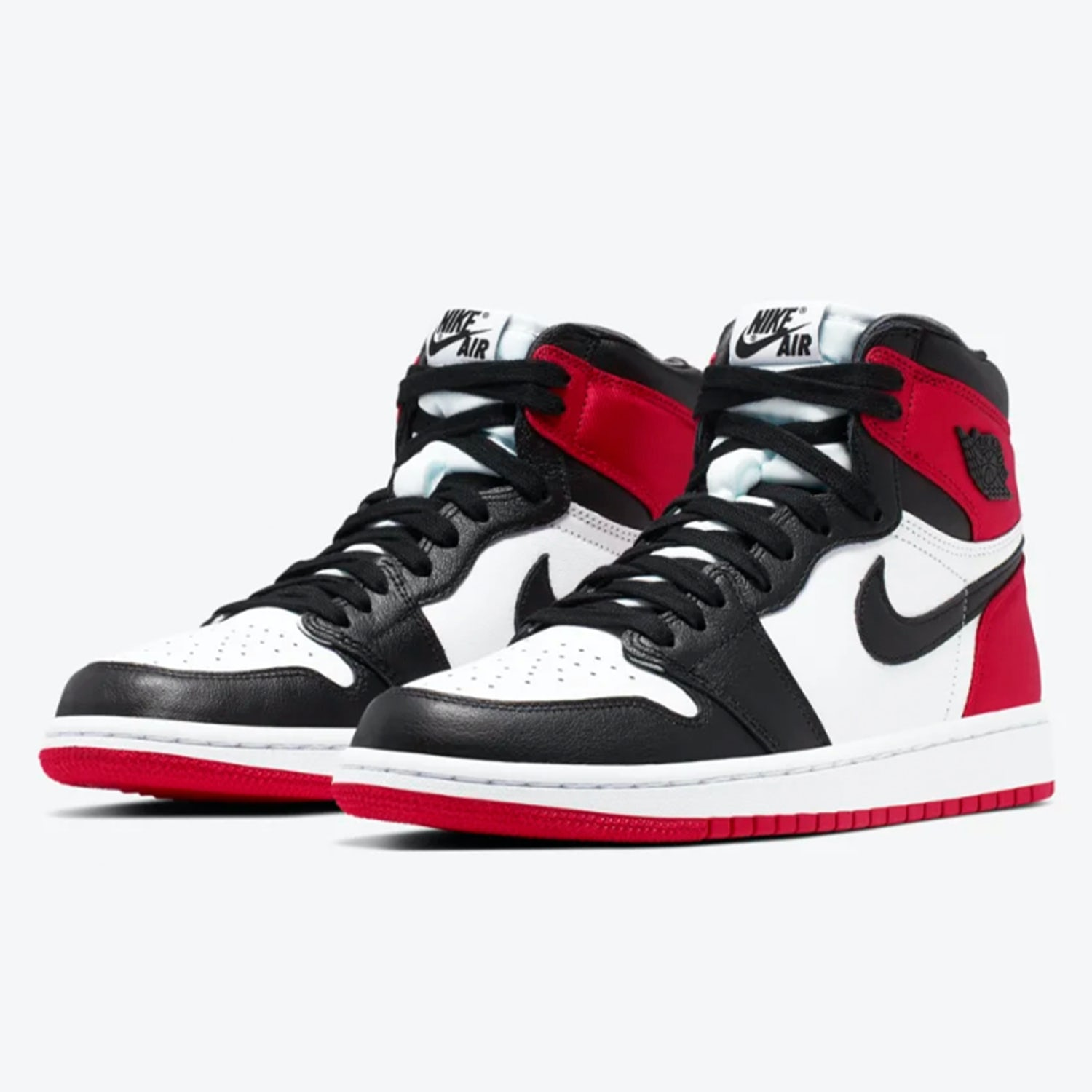 Air Jordan I Satin Black Toe 1