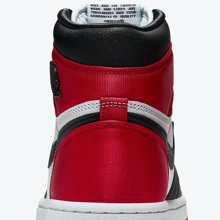 Air Jordan I Satin Black Toe 3