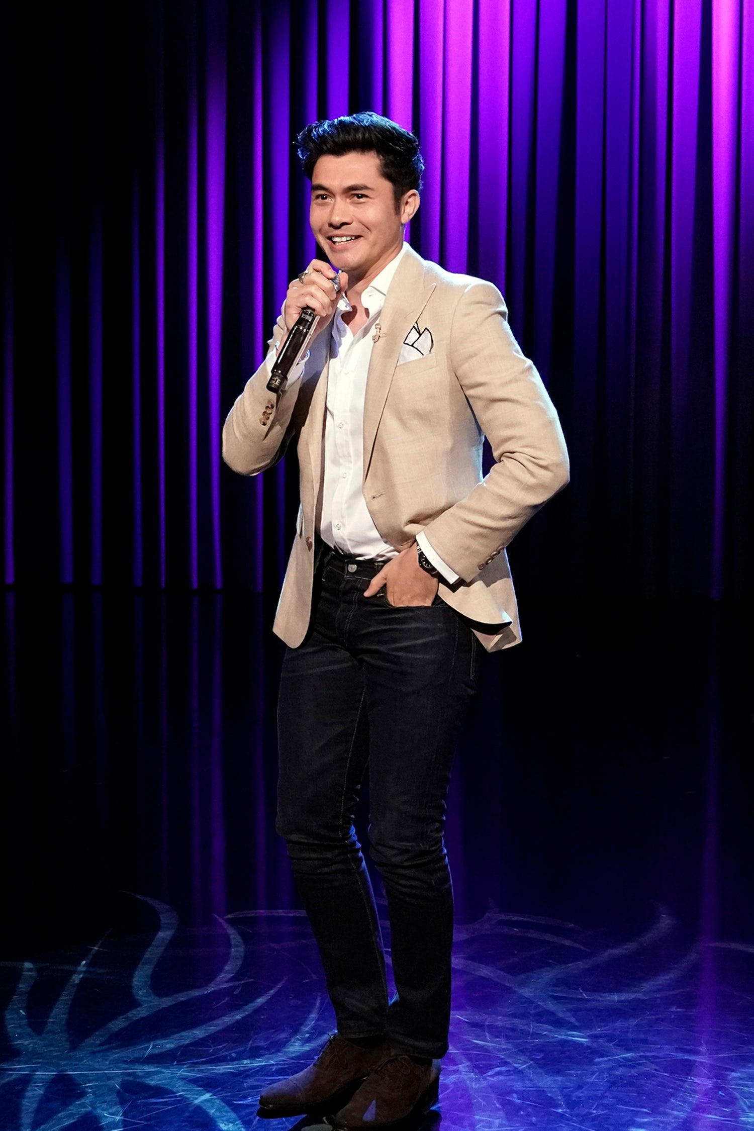 henry golding august fit