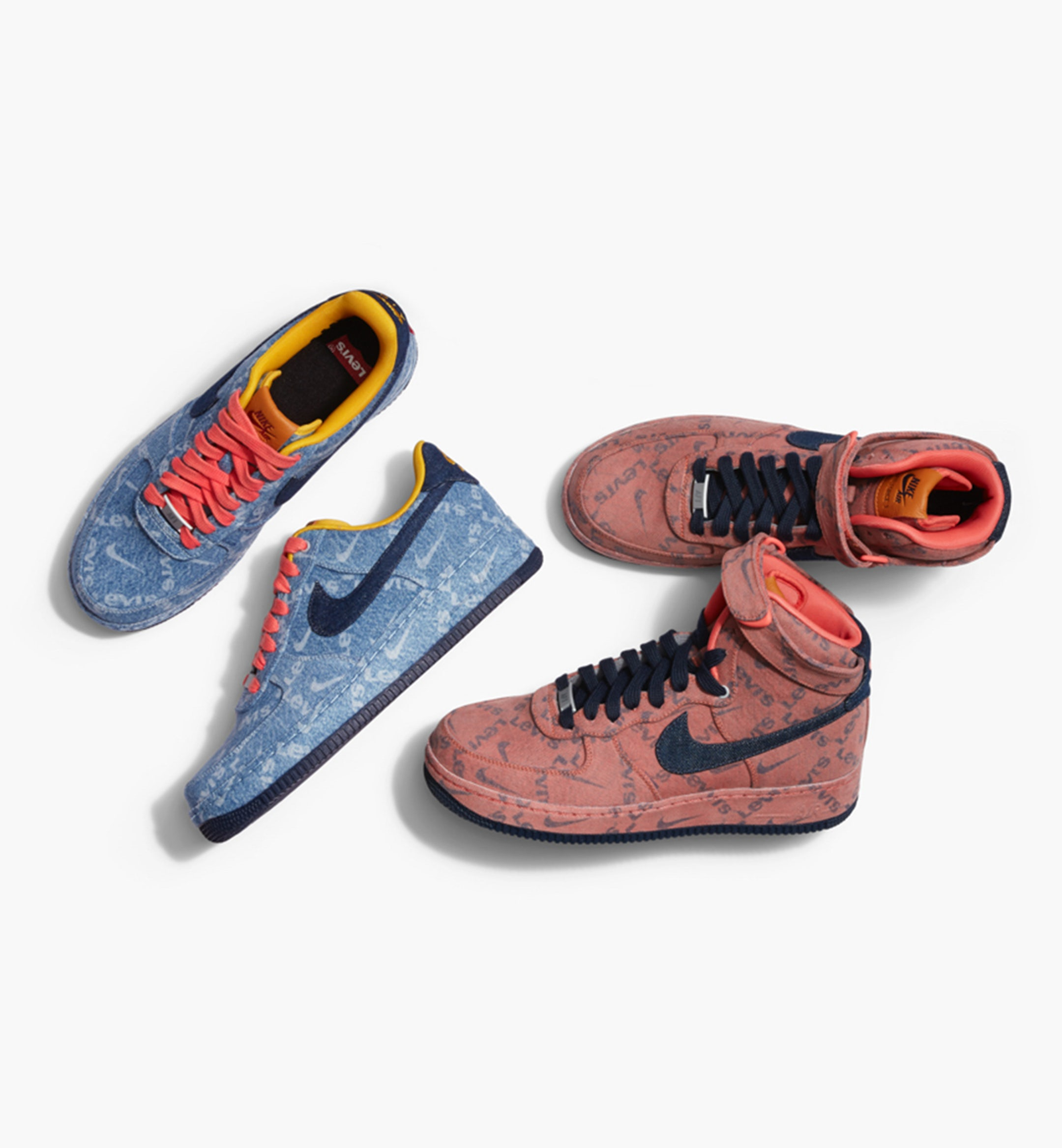 nike levis denim sneakers collab mobile