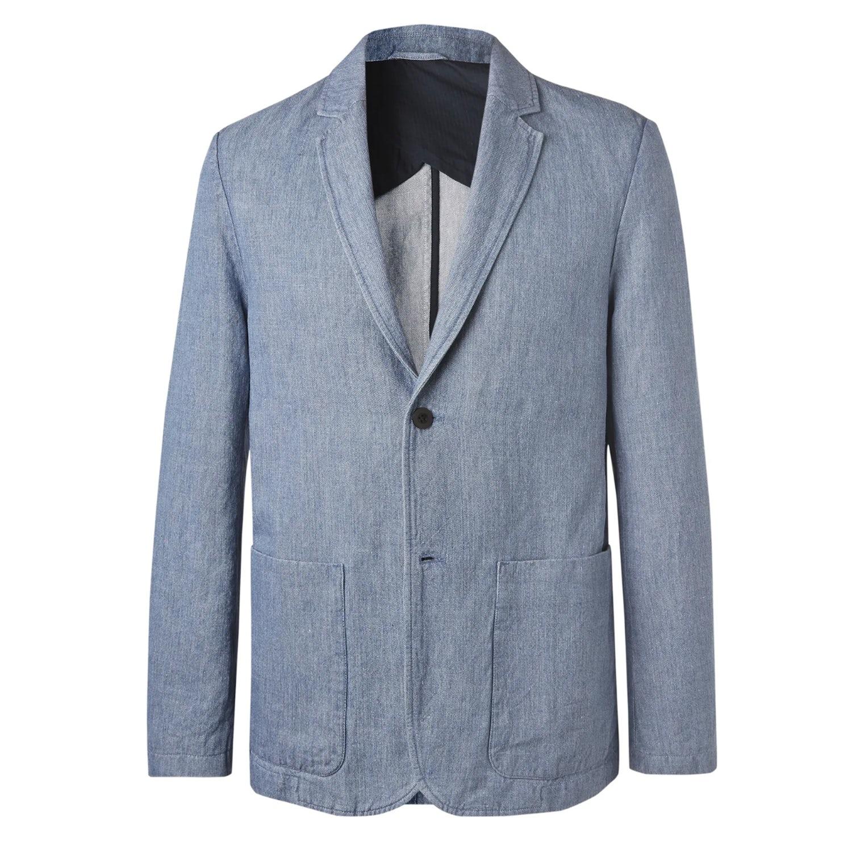 smart casual for men blue blazer