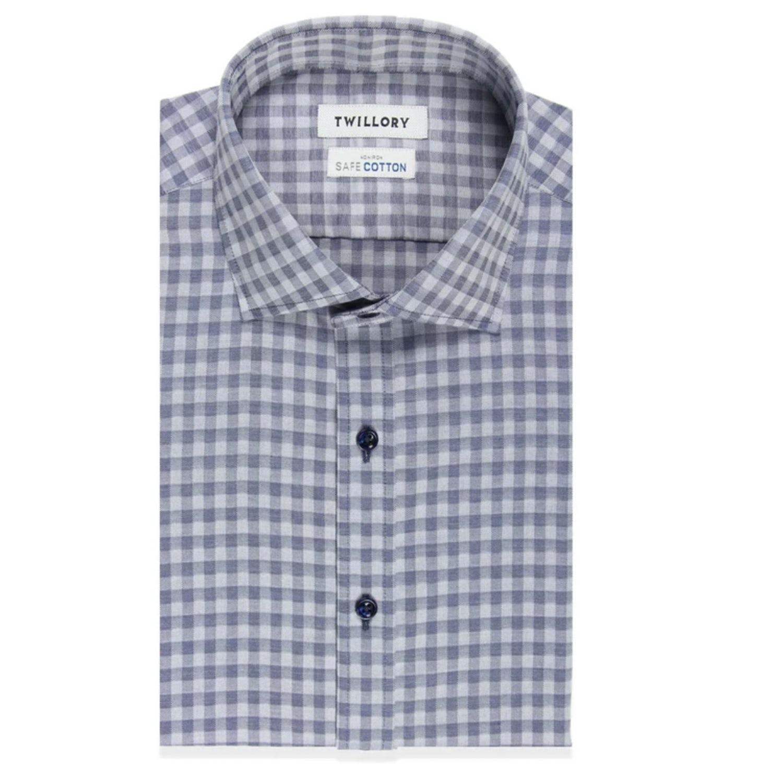 smart casual for men blue button down 0
