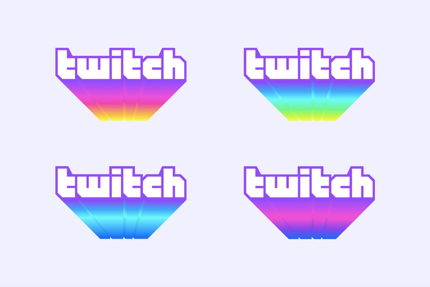 twitch redesign gradients colors