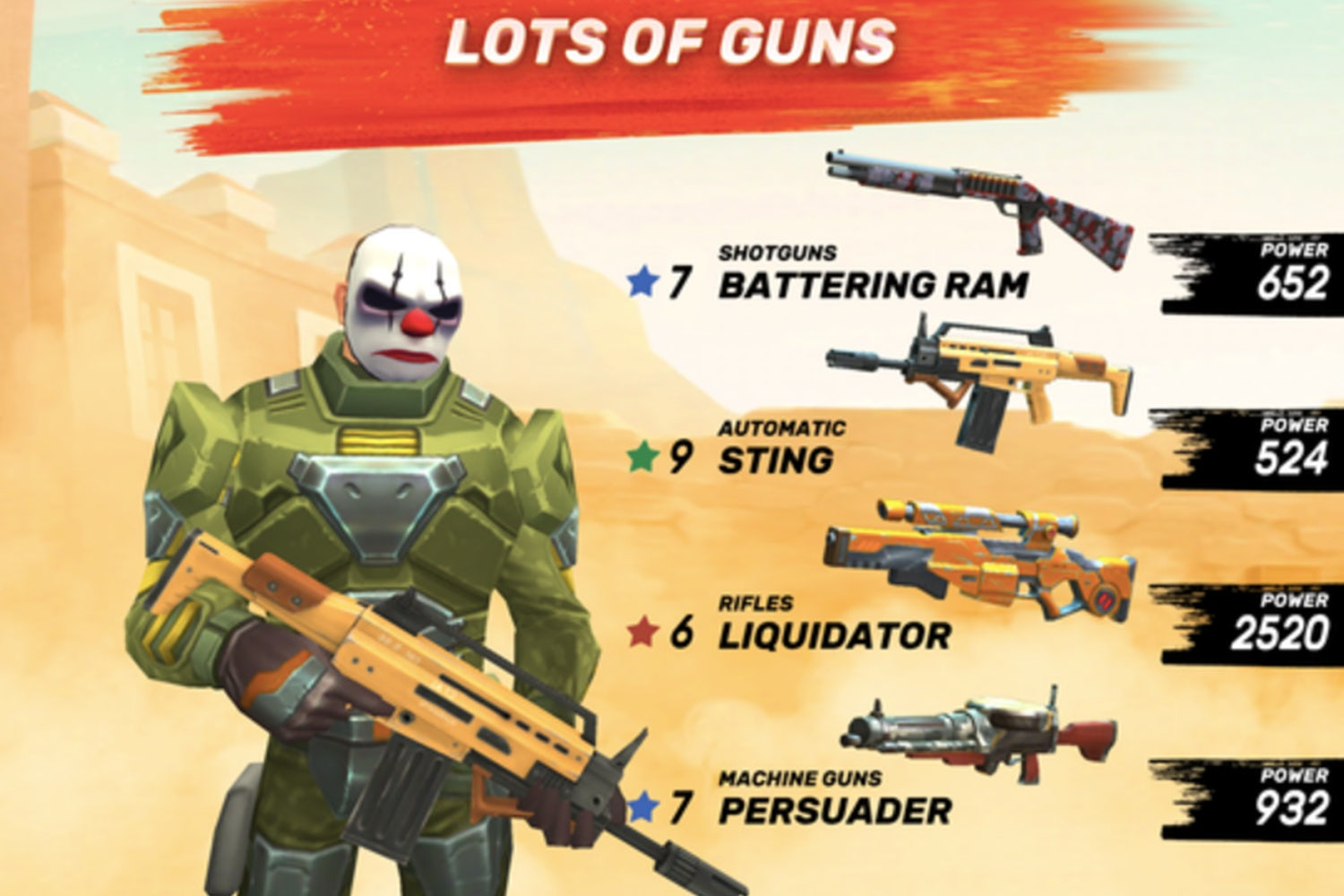 games like overwatch guns of boom