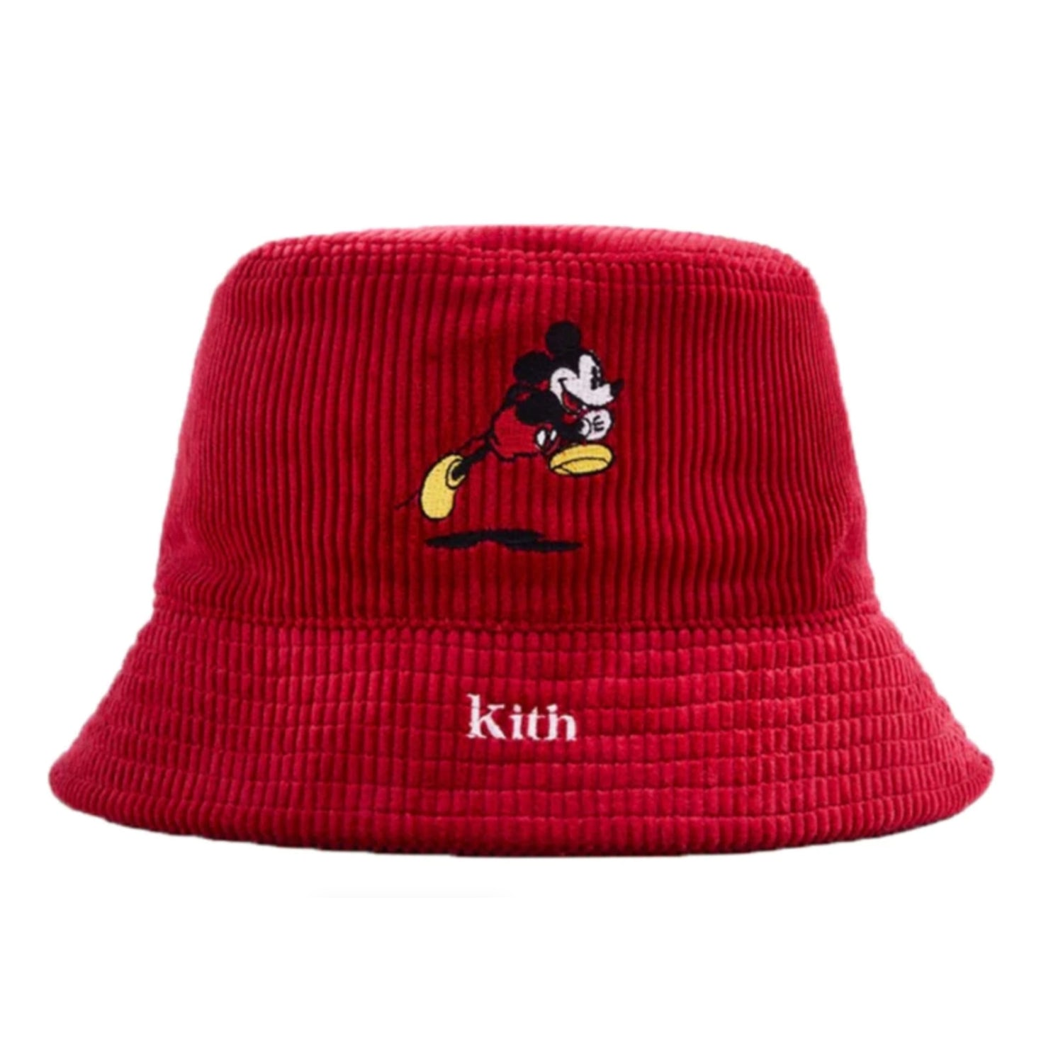 Kith x Disney Mickey Corduroy Bucket Hat Red