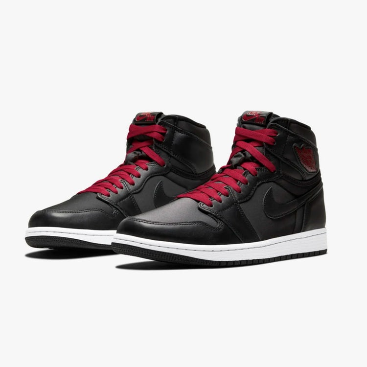 air jordan 1 high black gym red 2