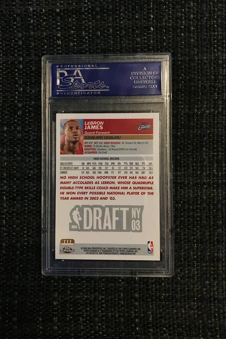 baseball cards worth money lebron 2