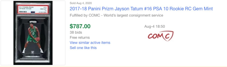 jayson tatum ebay sold
