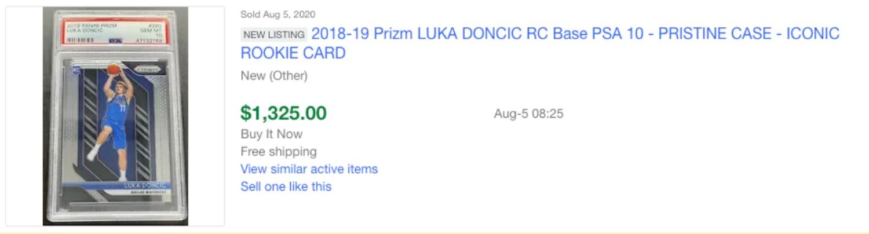 luka ebay sold